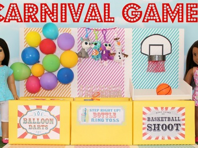 DIY American Girl Doll Carnival Games