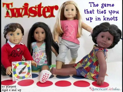 DIY American Girl Doll Twister Game - Doll Craft
