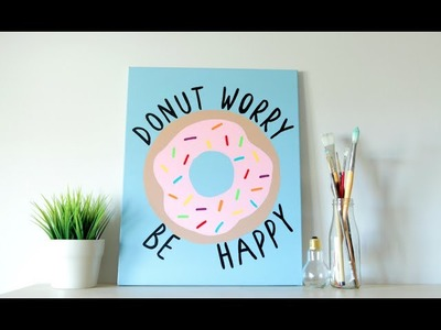 DIY Donut Canvas Art (Spring Room Decor)