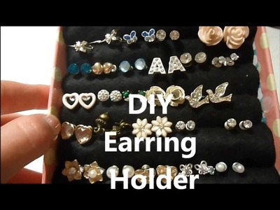 DIY earring holder xx