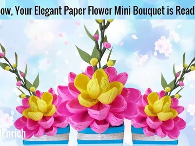 DIY Easy Paper Craft : How to Make a Pretty Crepe Paper Flower Bouquet | DIY Room Decor