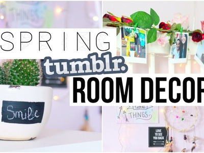 DIY Spring Room Decor! Tumblr & Pinterest Inspired!