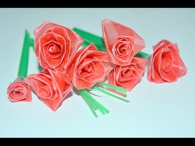 Drinking straw crafts:  make flowers in a very easy way (recycle)