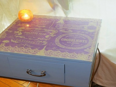 How To Decoupage Furniture with Fabric and Lace