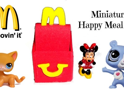 How to Make a Doll.LPS McDonalds Happy Meal - Easy LPS Crafts & Doll Crafts