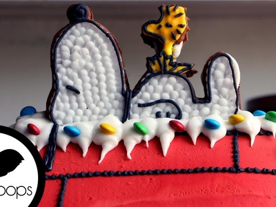 How to Make a Snoopy Gingerbread House   Become a Baking Rockstar