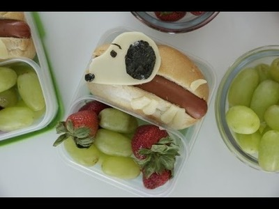 How to Make a Snoopy Hot Dog Bento Box | Eat the Trend
