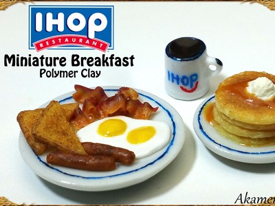 IHOP inspired Miniature Breakfast - Polymer Clay Tutorial