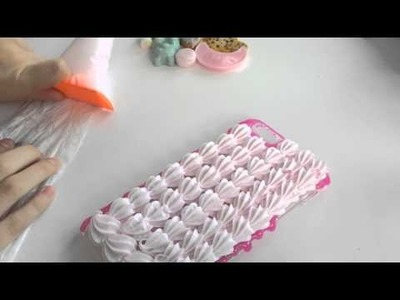 Making of Stars and Sweets iPhone 6+ Decoden Case