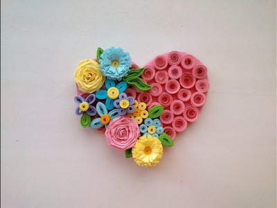 Paper Quilling Art: Quilling Valentine's Day Idea - Quilling Magnet Heart. Quilling Ideas