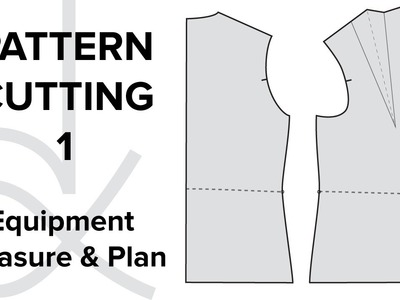 Pattern Cutting - Flat Pattern Drafting, the Bodice Block part 1