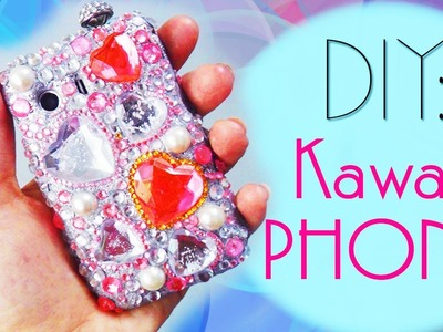 Pimp My Phone!! Kawaii style way!! How to Bling out your Old to New Cellphone Case into Fabulous One