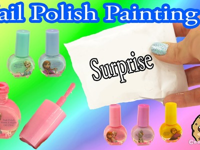 Rainbow Painting with Disney Frozen Nail Polish A Surprise Handmade Blind Bag - Cookieswirlc