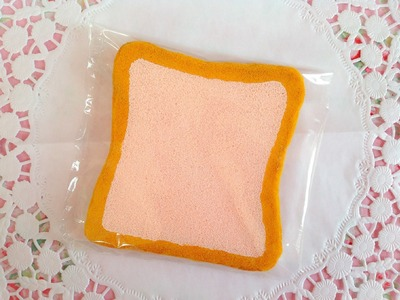 Squishy Tutorial: Homemade Aoyama Tokyo Strawberry Toast (Jumbo) ♡