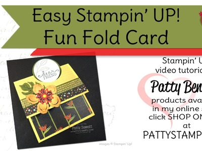 Stampin' UP! Fun Fold Cards with Circle Punch by Patty Bennett