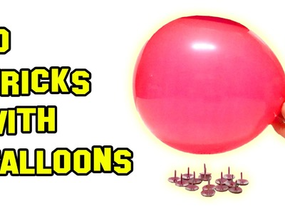 ✔ TOP 10 BEST Tricks With Balloons