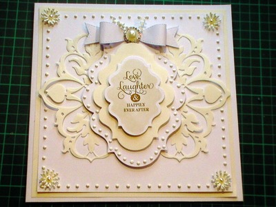 60. Cardmaking Tutorial - Ivory & White Anna Griffin Fretwork Fancy Wedding Card