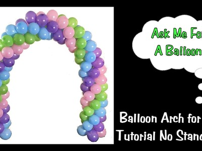 Balloon Arch Tutorial - Without A Stand - Spiral