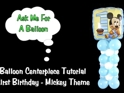 Balloon Centerpiece Decoration First Birthday