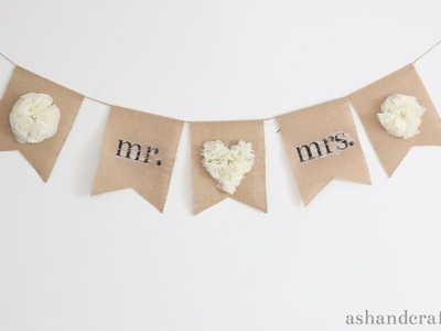 Customized Banner with Chiffon Flower