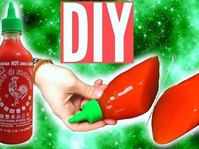 DIY GUMMY SRIRACHA HOT SAUCE BOTTLE!