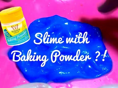 Easy Blue Slime with Baking Powder Tutorial