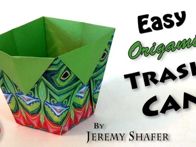 Easy Origami Trash Can (no music)
