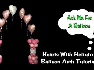 Floating Hearts Balloon Arch