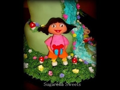 Fondant cake decorating - How to make Dora the explorer