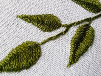 Hand Embroidery Design | Fish Bone Stitch Tutorials |  HandiWorks #24