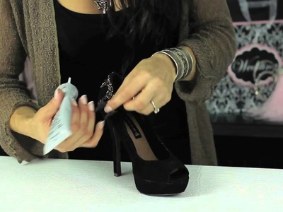 How to Glue Rhinestone Trim to Shoes : Glam Up Your Shoes