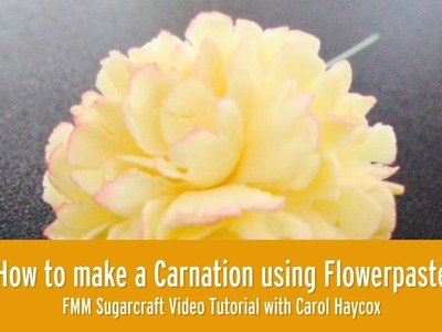 How to make a Carnation using Flowerpaste l FMM Sugarcraft tutorial
