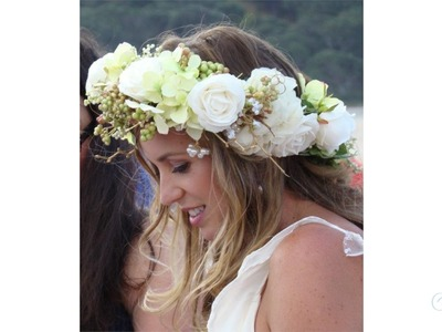 How to make a Floral Crown Wedding Floristry Tutorial