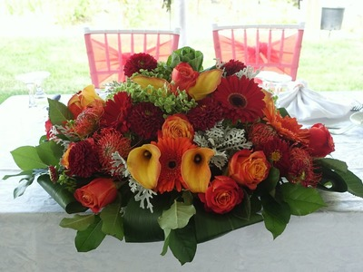 How to make a head table wedding flower arrangement