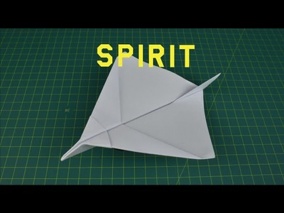 How to make a paper plane that flies far | Spirit origami paper plane