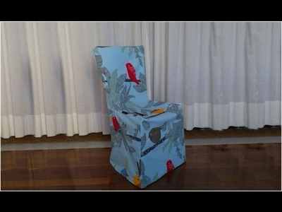How to make a slip cover for a chair (another way)