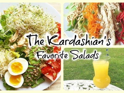 Kardashian's favorite salads & iced green tea mangotini