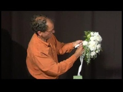 Making Silk Bridal Bouquets : Wrapping Handle for Bridal Bouquets