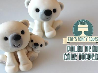 Polar bear cake topper tutorial