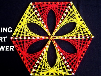 String Art Patterns - String Art Flower Making by Sonia Goyal