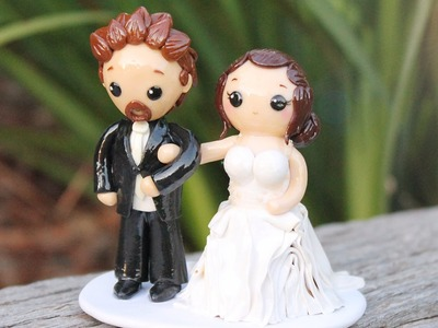 Wedding Cake Topper │ Polymer Clay Process Video