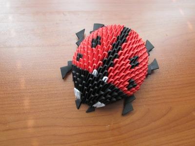 3D Origami Lady Bug Tutorial