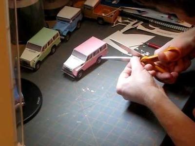 Building the Pink Pig FJ55 Toyota Land Cruiser paper model