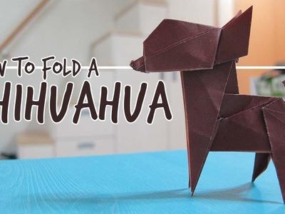 How to Fold an Origami Dog - Chihuahua (Fuchimoto Muneji)
