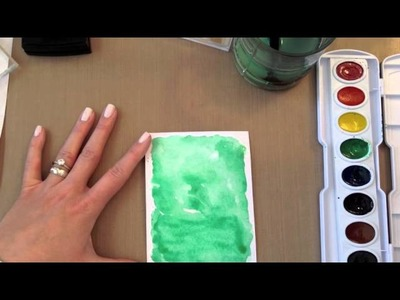 Make It Monday #153 - Watercolored Backgrounds With Heat Embossed Sentiments