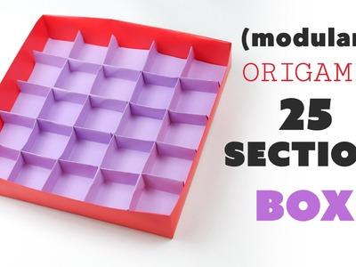 Origami 25 Section Box Divider Tutorial ♥︎ DIY Storage ♥︎