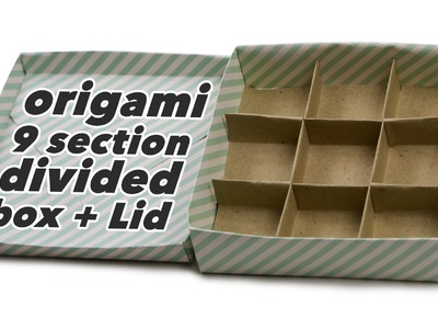 Origami 9 Section Divided Box + Lid
