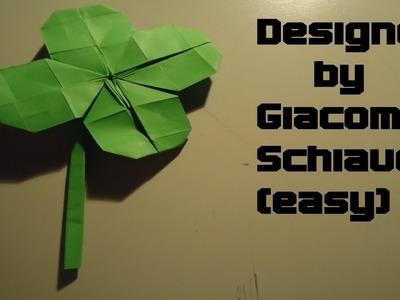 Origami Four Leaf Clover designed by Giacomo Schiavo