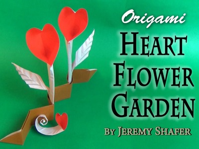 Origami Heart Flower Garden