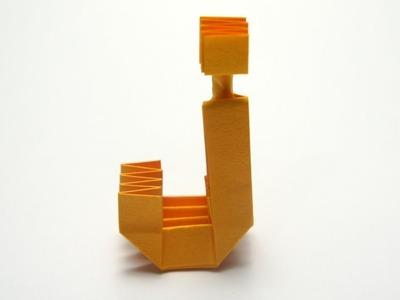 Origami Letter 'j'